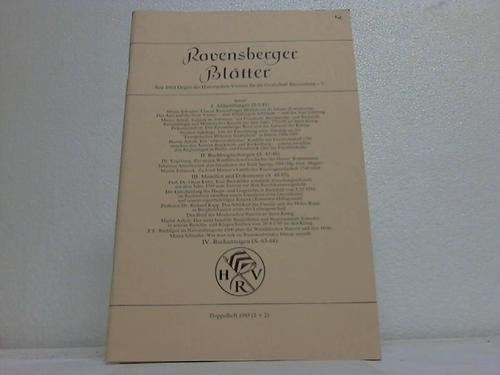 Ravensberger Blätter. Doppelheft 1985 (1 + 2)