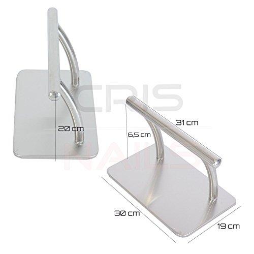 Crisnails® - Supporto per piedi / poggiapiedi, Accessori per Parrucchieri, Metallico