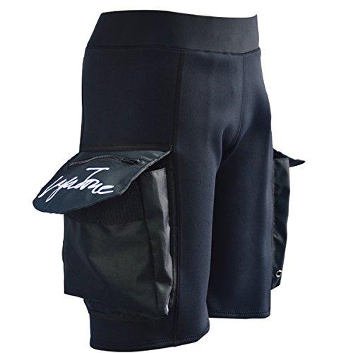 Layatone Herren Neoprenanzug Schwarz 3mm Neopren Boardshorts zum Surfen Tauchen