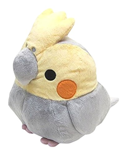 Soft and Downy Large Bird Stuffed Toy (Munyu-Mamu series) (Cockatiel Grey / XL size 30cm)