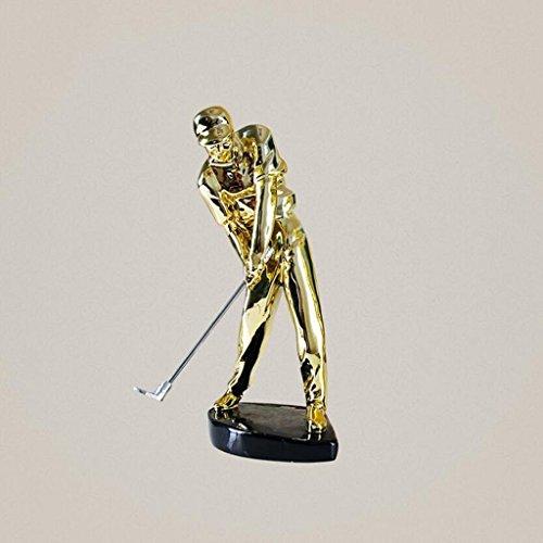 KYDJ Résine moderne minimaliste Chiffres Personnes Décoration Bureau Décoration Statue golfeur...