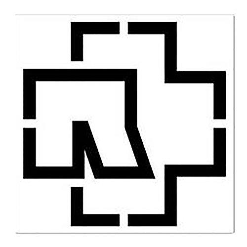 """Rammstein """"Logo"""" Aufkleber schwarz (freistehend) 100x100mm"""