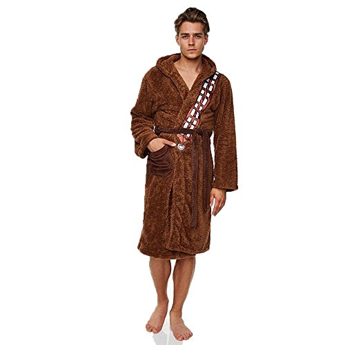 TruffleShuffle Star Wars SW Original Trilogy Episode Ep 7 Dressing Gown Licensed Cute Nightwear Bath Robe Chewbacca