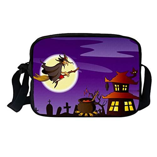 Myspace 2019 Neueste Dekoration für Halloween Bags Lustige Paare Frauen und Männer Single Shoulder Bags Kürbis Kürbis Umhängetasche Casual Messenger Bag Quadratischer Querschnitt