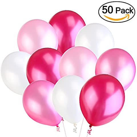 NUOLUX Ballons,Ballons en latex,3,2 g rose mariage ballons Party, haute