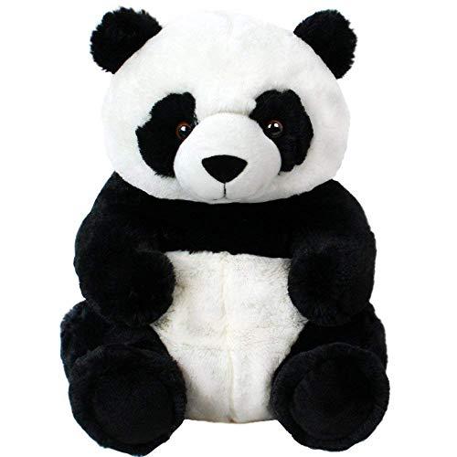 TE-Trend Panda Animal en Peluche Ours Panda Assis Plüschpanda Ourson à Câliner 33 CM