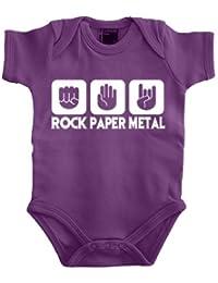 Touchlines Baby Body Stein Papier Rock - Heavy Metal - Body