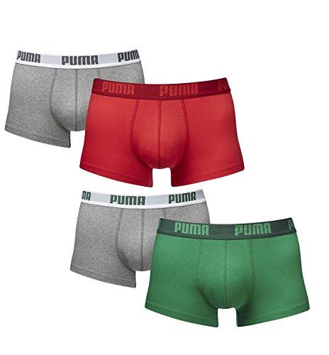 Pantaloncini da uomo puma boxer basic sotto pantaloni 4 pack in diversi colori 521025001