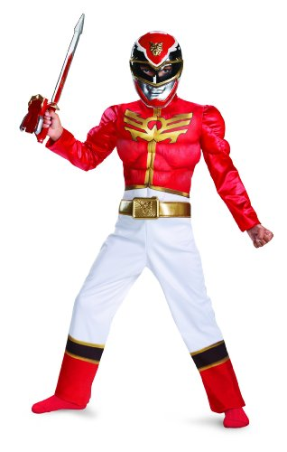 Kostüme Megaforce Red Ranger (Power Rangers Red Ranger Megaforce Muscle Chest Costume)