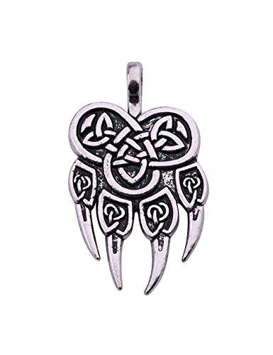 Skyrim Wicca Viking Veles de Pata de Oso irlandés Nudo talismán Amuleto runas Colgante Accesorios joyería Regalo