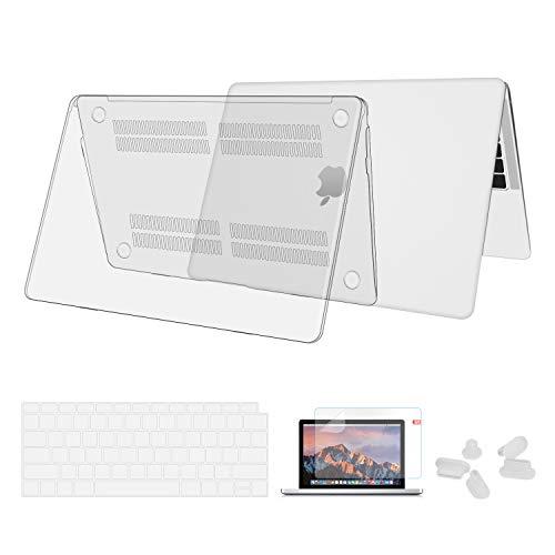 Utryit Hülle Für MacBook Air 13 (2018 Version) A1932 - Ultradünne Schutzhülle Hartschale Snap Case Laptop Glatt Cover für Apple MacBook Air 13,3