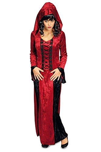 Karneval-Klamotten Vampir-Kostüm Damen Dracula Kostüm Damen schwarz rot Halloween Damenkostüm (Klassische Kostüme Vampirin)
