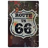 Ruta 66 Decoracion Pared  Placa Decorativa Vintage Route Cartel Chapa  MIRA