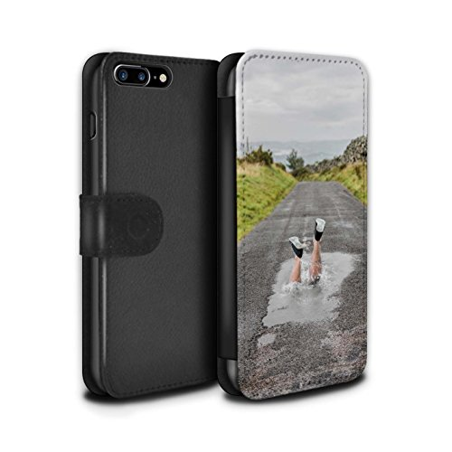 Stuff4 Coque/Etui/Housse Cuir PU Case/Cover pour Apple iPhone 8 Plus / Pack 29pcs Design / Imaginer Collection Éclabousser
