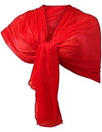 Amazon.it  coprispalle donna elegante - Rosso   Sciarpe e stole ... d893213f887