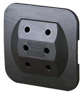 heitronic 46307 adaptateur prise europeenne 3 prises noir conception extra plate amazon. Black Bedroom Furniture Sets. Home Design Ideas