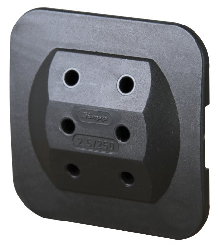 Kopp 174905008 Adapter 3-fach für Eurostecker, extra-flach, schwarz