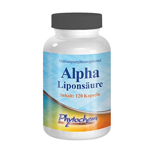 ALPHA LIPONSÄURE   500 mg reine Alphaliponsäure pro Kapsel   120 Kapseln   Premium Qualität aus Deutschland