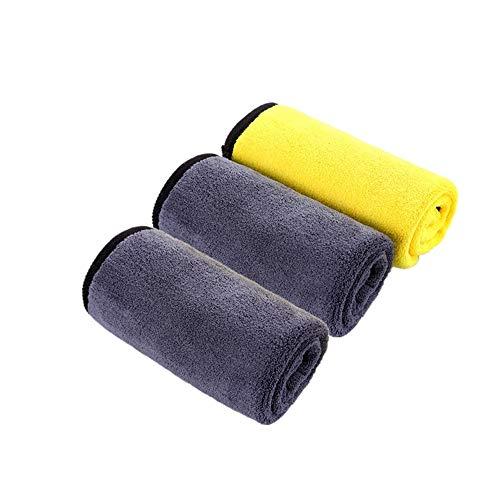 Shuxinmd Praktisch unerlässlich Mikrofaser Autopflege Reinigungstücher Profi Fusselfrei Auto Handtücher Super saugfähig Polieren Trockene Auto Tücher 3 Stück Towels Reinigungs- und Pflegemittel (Trockene Tücher Rack)