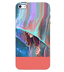 PrintDhaba CUTE GIRL D-6287 Back Case Cover for APPLE IPHONE 5S (Multi-Coloured)