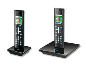 Sagemcom D96V DUO Téléphone numérique sans fil Répondeur jusqu'à 12 mn Noir