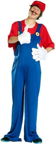 Kinder Klempner Kostüm - infactory Kinder Faschings-Kostüme: Kostüm Italienischer Klempner für Kinder, Größe 152 (Jungen Kostüme)