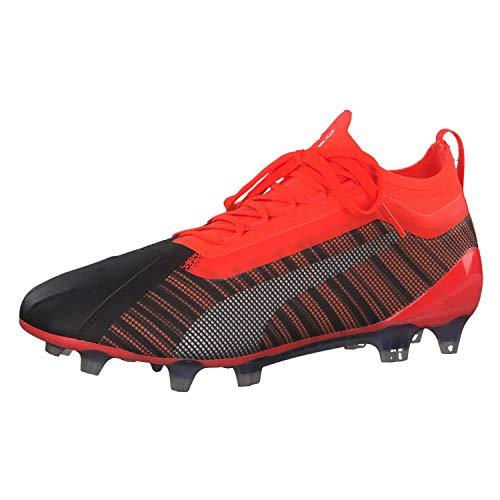 Puma ONE 5.1 FG/AG Fußballschuh Herren schwarz/rot, 9.5 UK - 44 EU