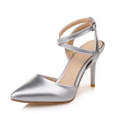 LvYuan Da donna Sandali Finta pelle Primavera Estate Fibbia A stiletto Oro Nero Argento Rosa 10 - 12 cm Gold