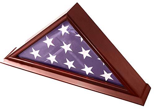 play Case, for Funeral/Burial/Veteran Flags, Solid Wood mit Kirschfisch-Fisch ()