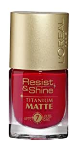L'Oréal Paris Resist & Shine Titanium Matt Nagellack, 504 Sweet Orchid, 9 ml, 1er Pack (1 x 9 ml)