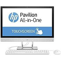 HP Pavilion 24-r066ng 60,4 cm (23,8 Zoll Full HD-IPS Touchscreen) All-in-One Desktop PC (Intel Core i7-7700T, 16GB RAM, 1TB SSD, AMD Radeon 530 Grafik, Windows 10 Home 64) weiß