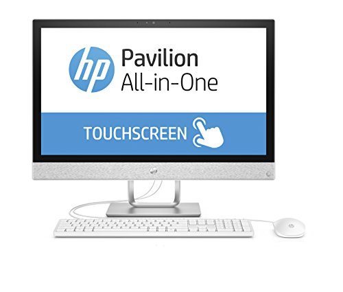 HP Pavilion 24-r066ng 60,4 cm (23,8 Zoll Full HD-IPS Touchscreen) All-in-One Desktop PC (Intel Core i7-7700T, 16GB RAM, 1TB SSD, AMD Radeon 530 Grafik, Windows 10 Home 64) weiß (All In One Computer Intel I7)