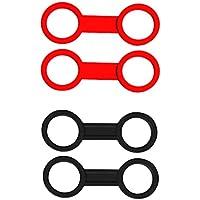 Sharplace 4pcs Double Boucle Support Tuba Plongee Sous Marine Crochet Silicone Accessoire Masque Plongée