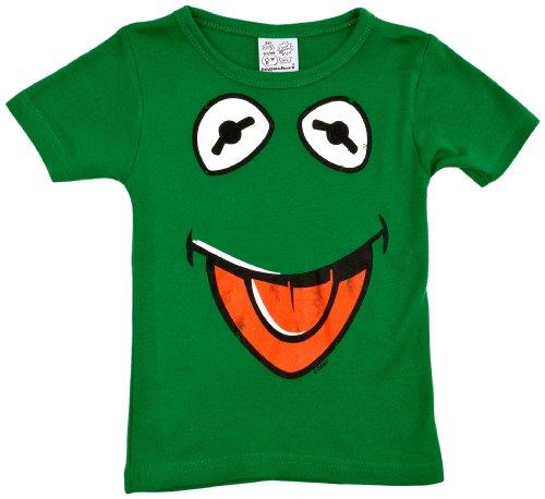 Muppet Show - Kermit der Frosch Gesicht T-Shirt Kinder - grün - Lizenziertes Originaldesign - LOGOSHIRT, Größe 170/176, 15-16 (Der Kostüm Kermit Frosch Kinder)