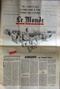 MONDE DIMANCHE (LE) [No 11044] du 03/08/1980 - BIO A TOUTES LES SAUCES - LES BALADINS MAUDITS DE PRAGUE - L'EPOPEE DES MORMONS - AGRIGENTE DE L. SCIASCIA.
