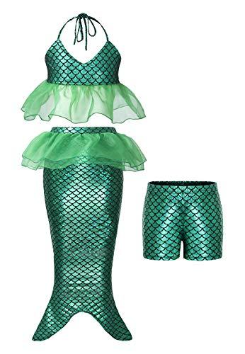 AmzBarley Pequeña Sirena Mermaid Traje Vestido Disfraz