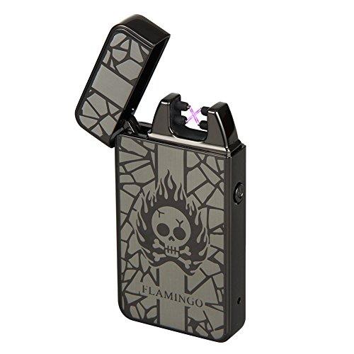 Kivors&reg Drache elektronisches Feuerzeug tragbar USB aufladbar dopple Lichtbogen tragbar (Schwarz1)