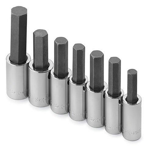 SK outils à main 41427 7 pièces métrique Douille hexagonale Lot