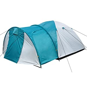 camp fire–igloo tent with porch camping tent dome tent for 3-4persons, silver green