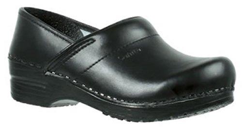 Sanita sabots prof. pu black leather Moyen