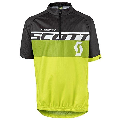 Scott RC Team Junior Kinder Fahrrad Trikot kurz gelb/schwarz/grün