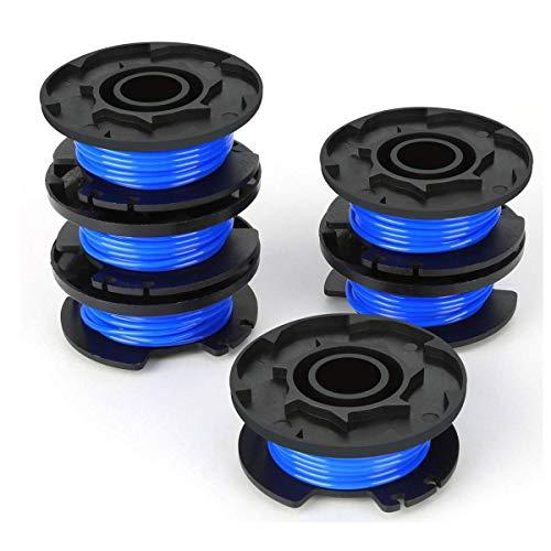 Gekufa Rasentrimmerspule für Ryobi Trimmerfaden, Ersatzteil, 1,65 mm, Autofeed-Ersatzspulen, kompatibel mit Ryobi One+ AC14RL3A, 18 V, 24 V, 40 V, kabellose Trimmer (6 Stück)