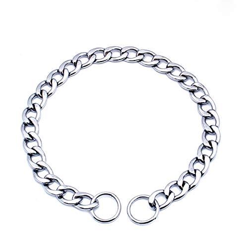 Louvra Collare per Cani Catena in Metallo Collare Serpente per Cane Taglia Grande Media Piccola (S,M,L)
