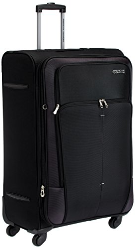 American Tourister Crete Polyester 77 cms Black Softsided Check-in Luggage (49W (0) 09 003)