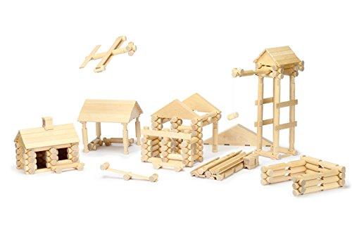 Natureich 222 - Teiliges - 3D Holzhaus / Stadt Puzzle Bausatz - Pädagogisches Holzspielzeug - Förderung für räumliches Vorstellungsvermögen, Set ab 5 Jahre