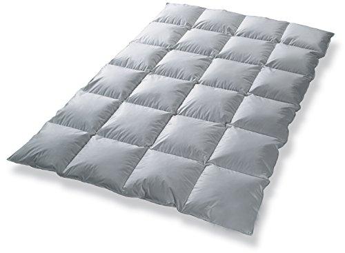 Daunendecke Bettdecke Kassettenbett gefüllt mit 80% Daunen - Garantiert kein Lebendrupf - Ganzjahresdecke