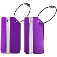 CSTOM Metallo Etichette per Valigie ID Tag Bagagli Identificazione