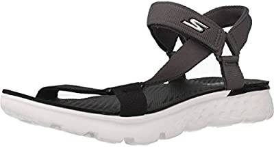 Sandalias y chanclas para mujer, color gris , marca SKECHERS, modelo Sandalias Y Chanclas Para Mujer SKECHERS ON THE GO JAZZY Gris