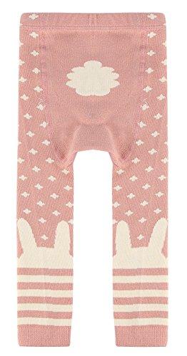 EOZY Legging Bébé Fille Rose Stretch Hiver Chaud Chambre Pantalon Souple 2-4 Ans