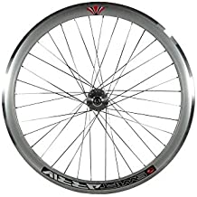 "Deep V 43mm rueda delantera para Fixie, Fixed Gear, vía, una sola velocidad bicicleta, plata, 28"" 700C 622"